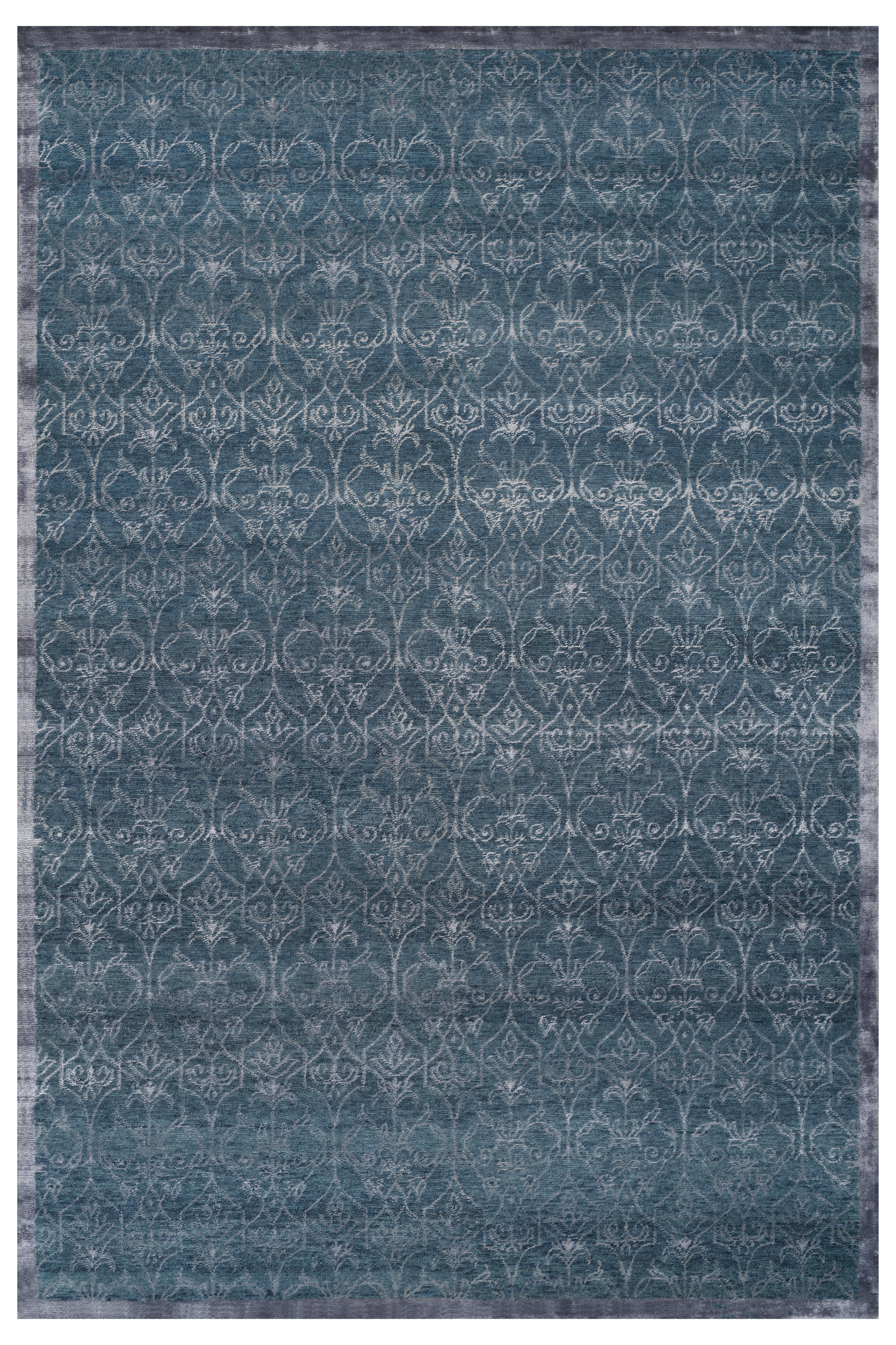 Stark Studio Rugs Contemporary Oriental Wool and Bamboo Silk Rug - 6' X 9' For Sale