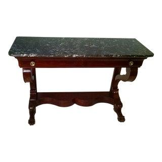 French 19th Century Mahogany Console