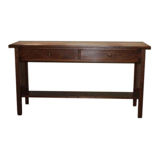 Vintage Handmade Prairie Style Console Table