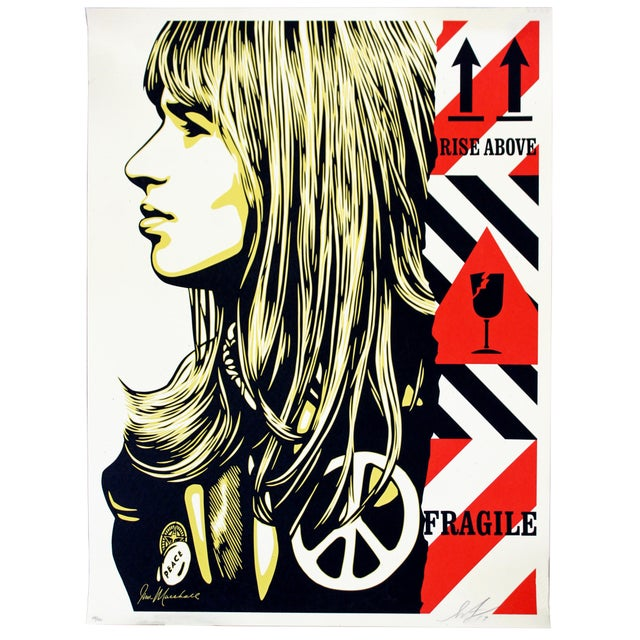 2010s Shepard Fairey Signed Numbered Screenprint 156/450 Fragile Peace -Obey Giant For Sale - Image 5 of 5