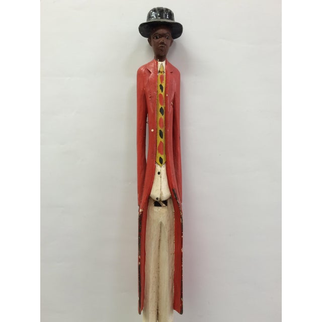 African Tribal Art Carved Wood Colonial Statue/Sculpture - Image 3 of 6