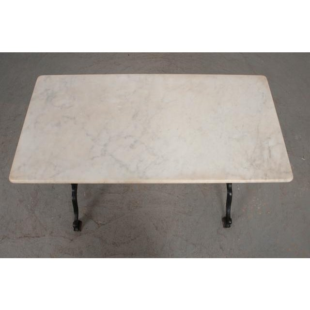 Early 20th Century French Early 20th Century Marble Top Garden Table For Sale - Image 5 of 11