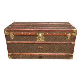 1930s French Louis Vuitton Monogram Trunk For Sale