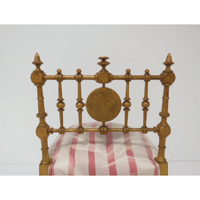 Late 1800s American Aesthetic Movement Giltwood Slipper Chair For Sale - Image 11 of 13