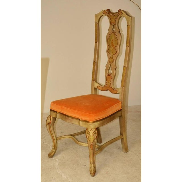 Set of Six Queen Anne Style Chinoiserie Dining Chairs For Sale In Palm Springs - Image 6 of 6