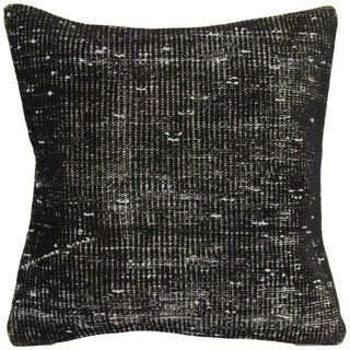Vintage Black Handmade Overdyed Pillow Cover For Sale