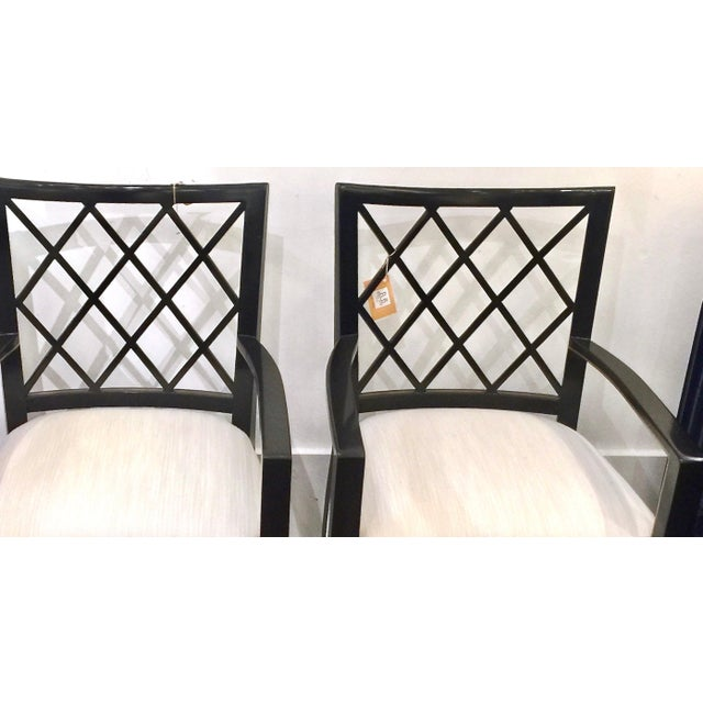 Robert Bryan Home Ebonized Arm Chairs- A Pair - Image 7 of 7