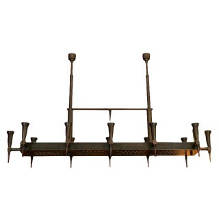 Large Bronze Ramp Chandelier by Bagues For Sale