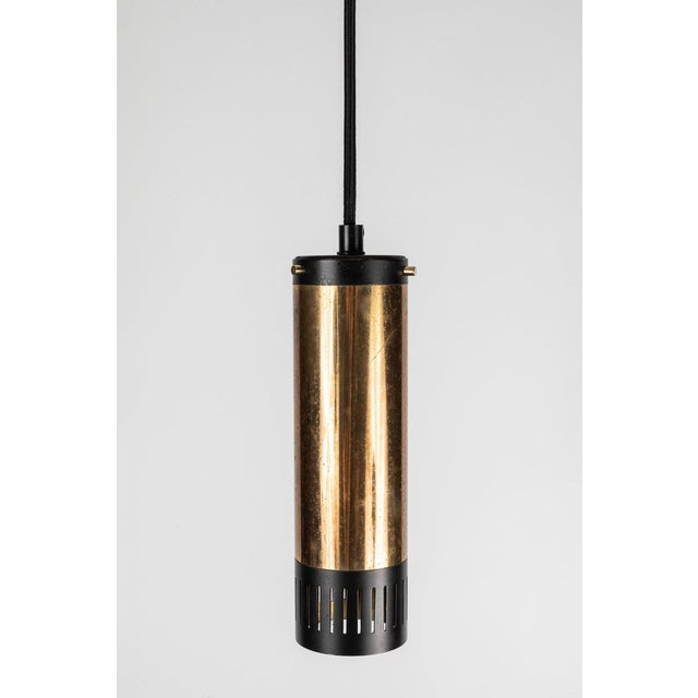 1950s Stilnovo Cylindrical Pendant With Yellow Label For Sale In Los Angeles - Image 6 of 11