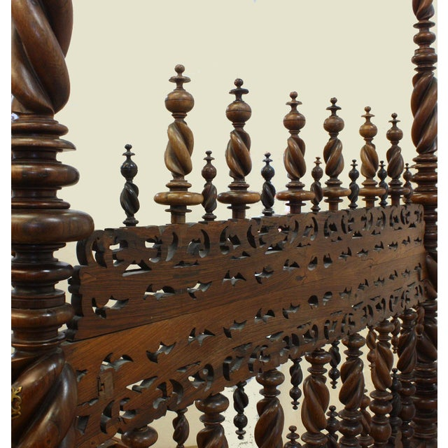 17th Century 17th Century Portuguese Carved and Turned Bed For Sale - Image 5 of 8