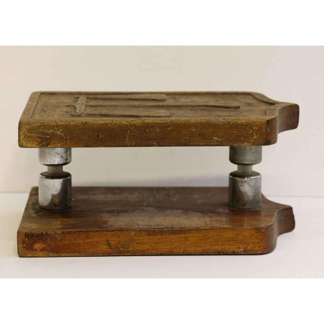 Mid 20th Century Pair of Wooden Imported Double Door Pulls For Sale - Image 5 of 7