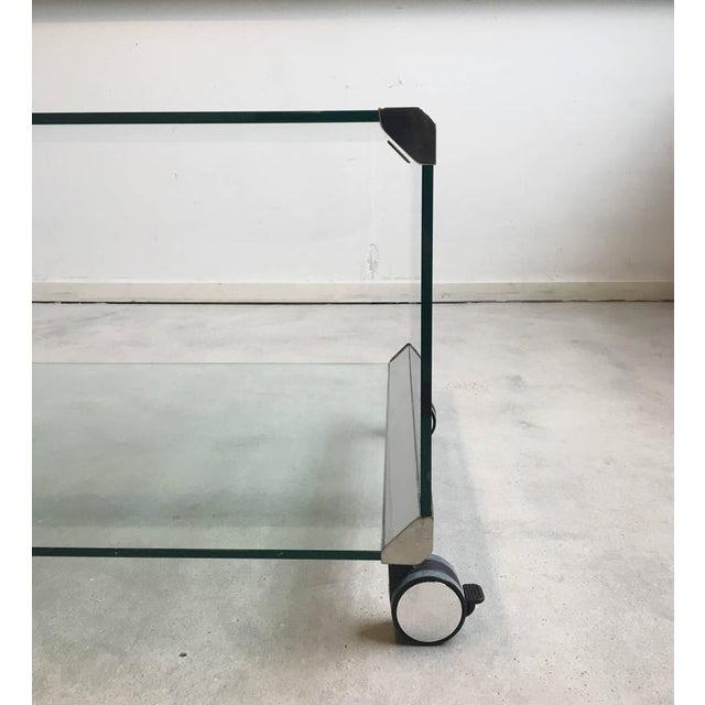 Chrome and Glass Coffee Table, by Pierangelo Galotti for Galotti & Radice, 1975 - Image 4 of 7
