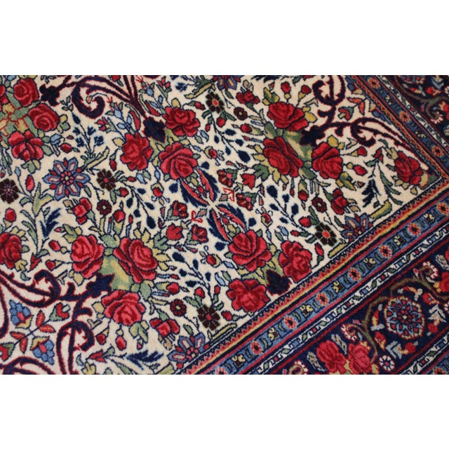 Asian Vintage Persian Bidgar Rug - 5′7″ × 8′7″ For Sale - Image 3 of 7