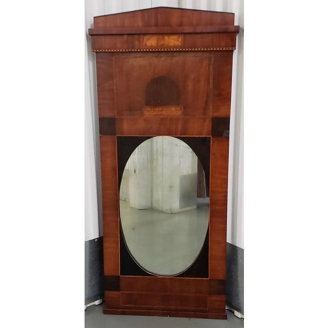 Brown Early 19th Century Walnut & Mahogany Biedermeier Mirror C.1830s For Sale - Image 8 of 9