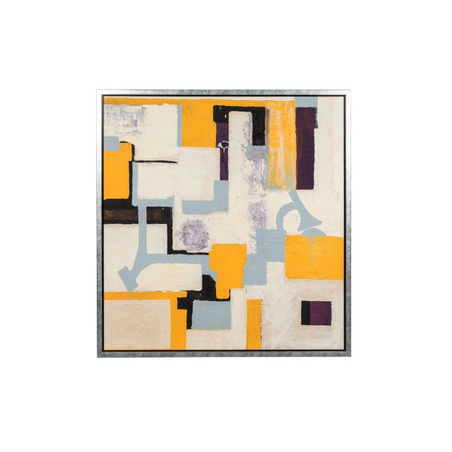 Gray & Yellow Abstract by Christopher Shoemaker For Sale In Los Angeles - Image 6 of 6