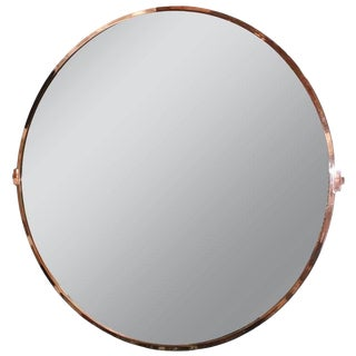 "Adesso Imports Large Copper ""Lucio"" Mirror For Sale"