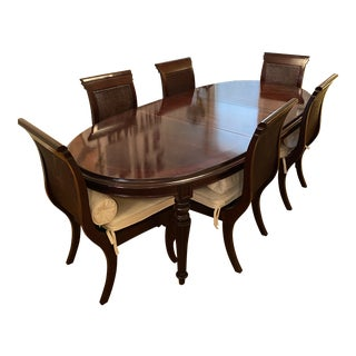Traditional Stanley Furniture Solid Rosewood Dining Set - 7 Pieces For Sale