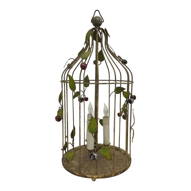 Painted Italian Birdcage Chandelier For Sale