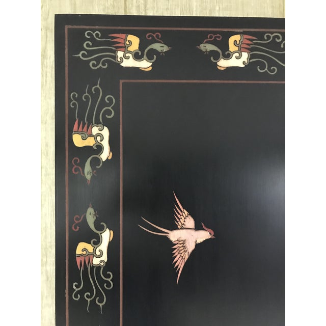 Maitland - Smith 1980s Maitland-Smith Eight Panel Asian Lacquered Wood Screen Room Divider For Sale - Image 4 of 13