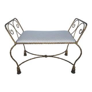 Italian Gilded Iron Bench