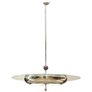 1930s Fontana Arte Italian Venetian Murano Glass Chandelier For Sale
