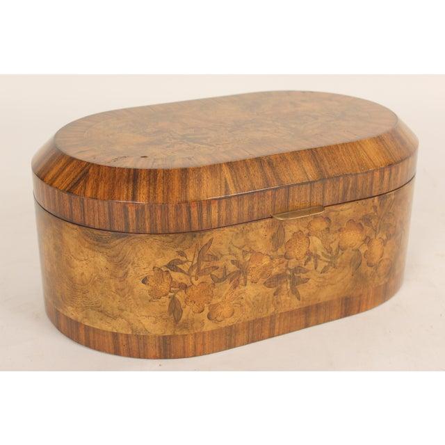 Late 20th Century Maitland Smith Burl Walnut Box For Sale - Image 5 of 10