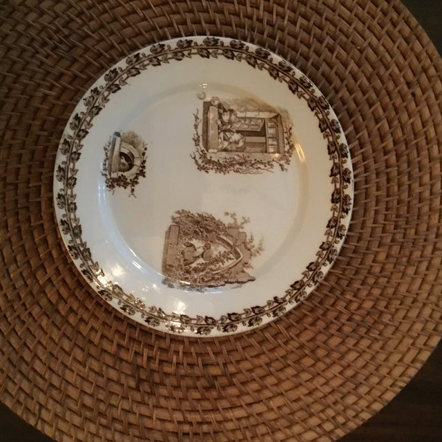 French Art Nouveau Majolica Plates - Set of 4