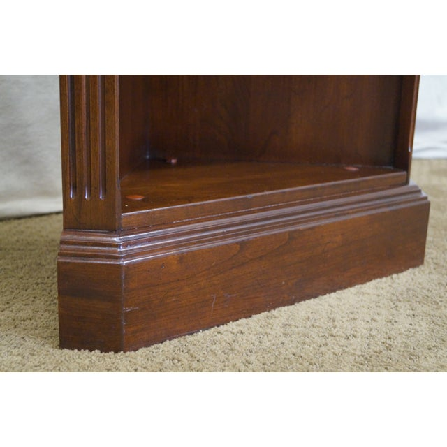 Ethan Allen Georgian Court Solid Cherry Narrow Corner Cabinets - a Pair - Image 7 of 10