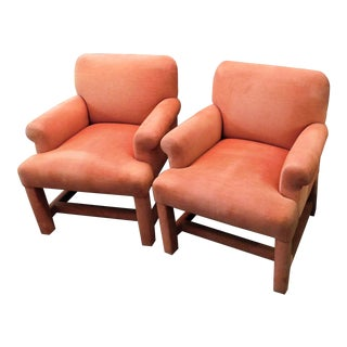 Vintage A. Rudin Designs for Hughes Design Assoc. Chairs - a Pair For Sale
