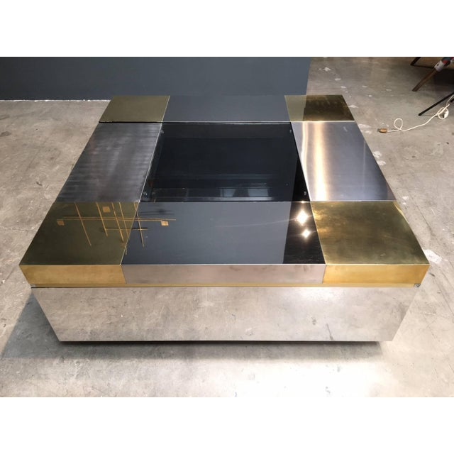 Italian A Stunning Italian Coffee Table With Moveable Compartments. For Sale - Image 3 of 4