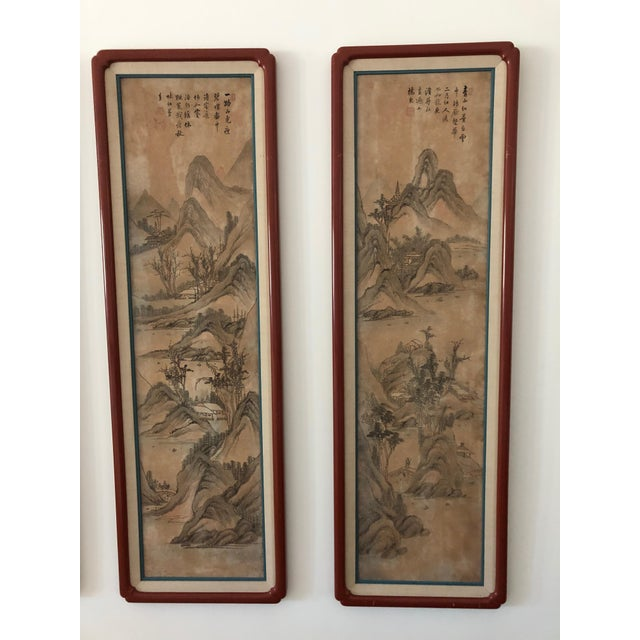 Chinese Hand Painted Silk Panels - Suite of 8 For Sale - Image 4 of 8
