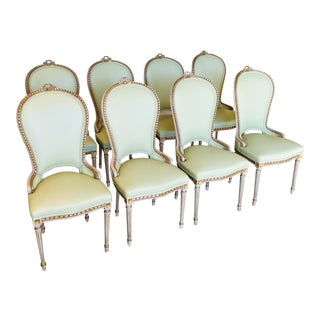 Vintage Louis XV Gilded Chairs- Set of 8 For Sale