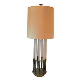 Mid Century Modern Tommi Parzinger for Stiffel Table Lamp With Shade For Sale