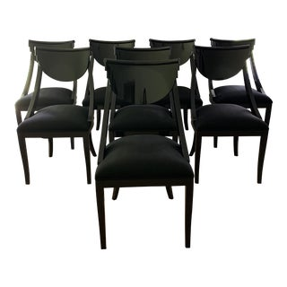 Vintage Pietro Costantini Italian Lacquered Dining Chairs - Set of 8 For Sale