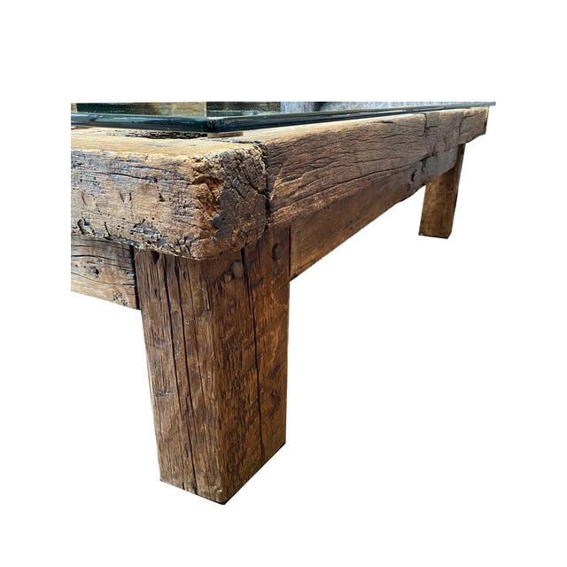 Mexican Jail Door Wood Coffee Table For Sale - Image 4 of 7