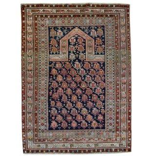 Late 19th Century Persian Shirvan Paisley Prayer Rug - 4′1″ × 5′3″ For Sale