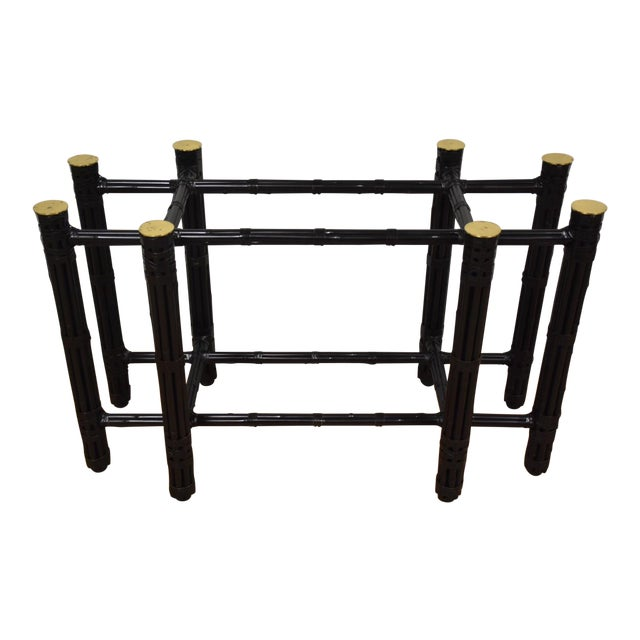 McGuire Black Bamboo Dining Table Base - Image 1 of 11