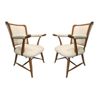 Pair of 1950s French Country Armchairs For Sale