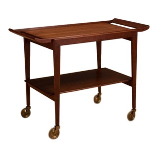 Mid-Century Modern Soborg Mobler Danish Teak Bar Cart For Sale