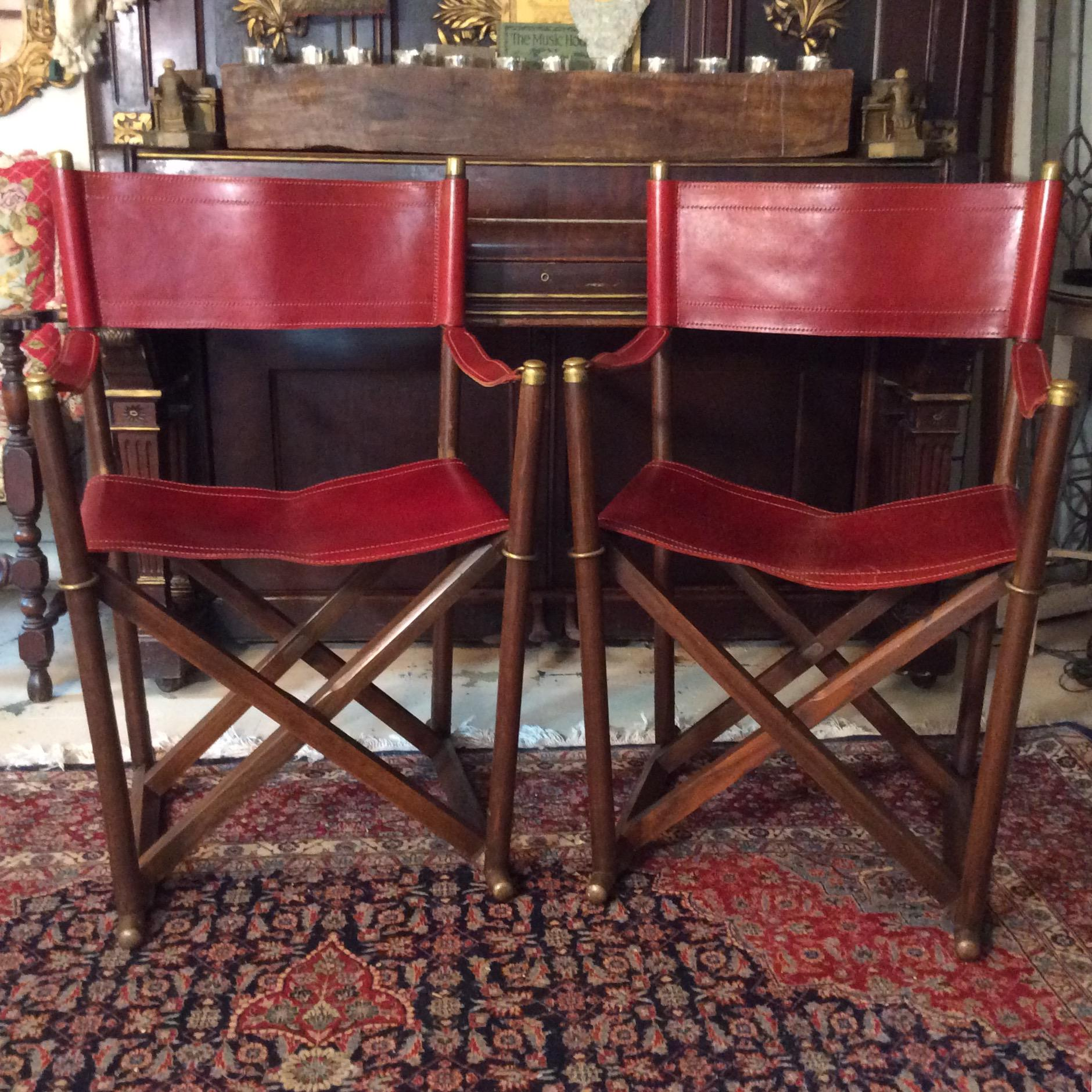 Almazan Sarried Campaign Chairs   A Pair   Image 3 Of 10