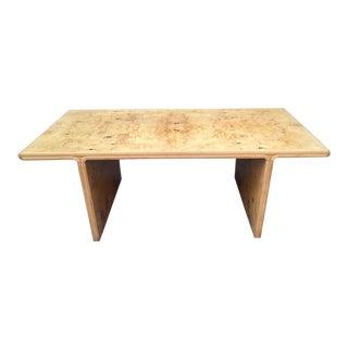 Vintage Olive Burl Table or Writing Desk For Sale