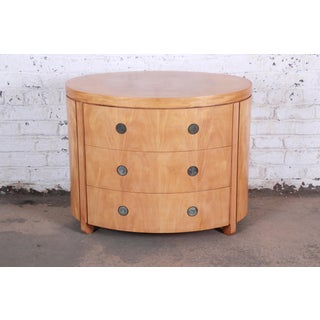 Charles Pfister for Baker Art Deco Primavera Three-Drawer Oval Commode or Bachelor Chest Preview