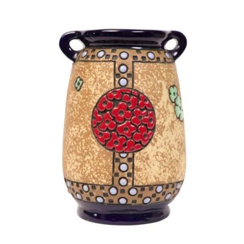 Austrian Amphora Vase W/ Parrots - Image 2 of 3
