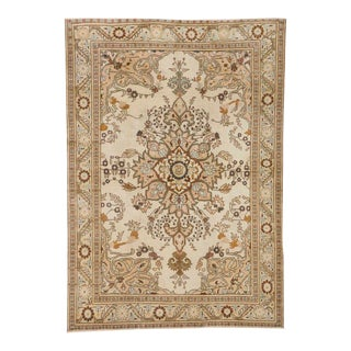 Vintage Turkish Sivas Rug with Transitional Style in Light Colors