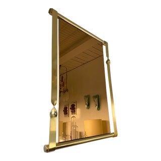 Brass Mirror by Luciano Frigerio. Italy, 1970s For Sale