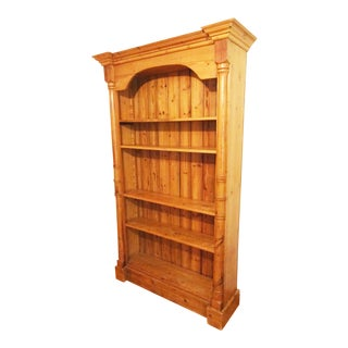 "1860 Antique English Pine 83"" Tall Bookcase Cabinet For Sale"