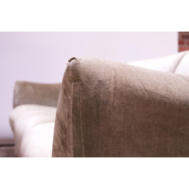 1970s Tentazione Sofa by Mario Bellini for Cassina in Original Sage Velvet For Sale - Image 11 of 13