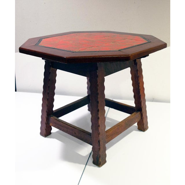 1920s 1920's Monterey-Style California Tile Table For Sale - Image 5 of 6