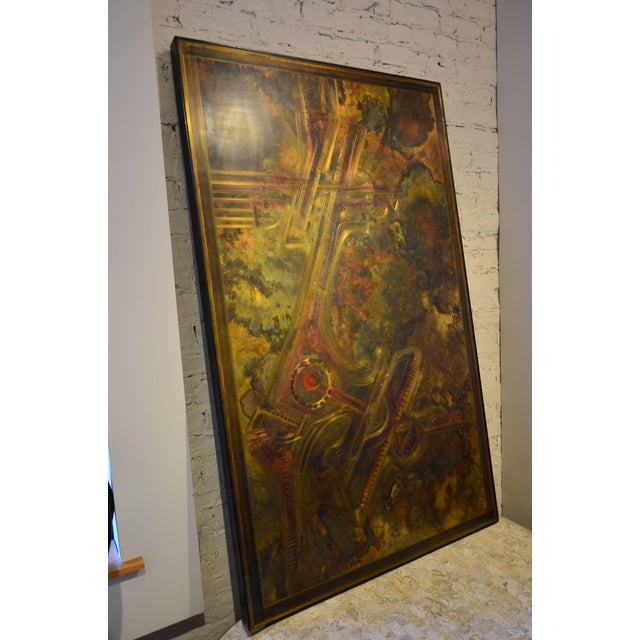 Metal Bernhard Rohne Brass Acid Etched Wall Art For Sale - Image 7 of 11