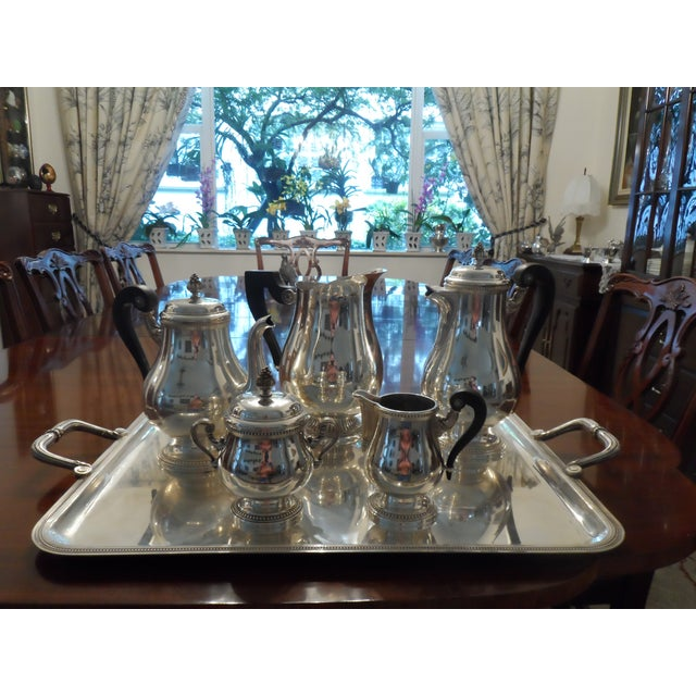 Silver 1990s Christofle Silver Plated Tea Set - 6 Pieces For Sale - Image 8 of 9